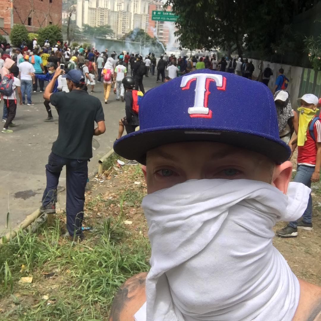 Former University Of North Carolina Basketball Player Among Protesters In Venezuela